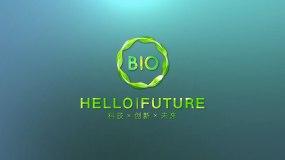 【原创】碧绿未来光线LOGO演绎AE模板