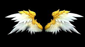 黄色翅膀--带透明通道视频素材