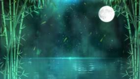 4K夜色竹林舞台循环视频素材