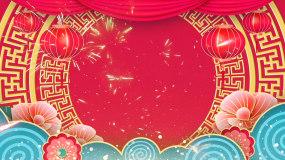 元旦春节联欢晚会视频舞台背景素材视频素材