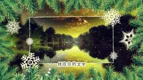 圣诞风格节假日图文展示AE模板