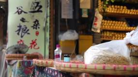 西安回民街西安小吃街道民俗视频素材