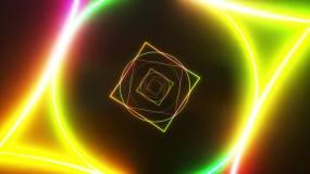 几何激光线条led灯光穿梭视频素材