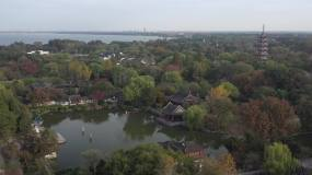 4K原素材-航拍上海淀山湖畔景色视频素材