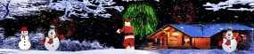 圣诞雪人6KLED全息投影素材视频素材