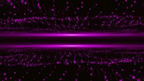 紫色动态粒子波浪视频素材