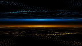 金蓝粒子视频素材