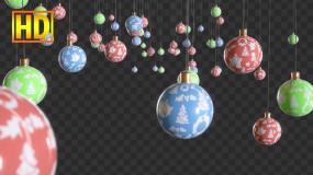 圣诞节装饰彩球-alpha通道视频素材包