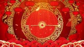 4K喜庆舞台新年背景循环视频素材