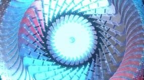 万花筒机械金属vj金色动态循环舞台蓝色视频素材