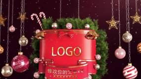 圣诞节日风格出LOGO标题AE模板