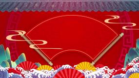 红色喜庆牛年春节跨年晚会节目表演背景视频视频素材