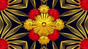 金色花瓣舞台舞台背景视频素材