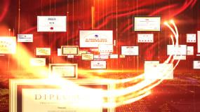 图片汇聚成logo演绎AE模板