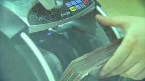 数钞机视频素材