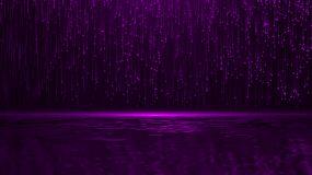 紫色粒子湖视频素材