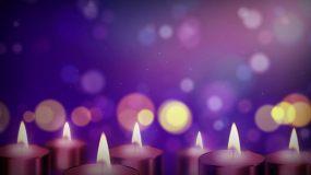 4K蜡烛温馨背景循环视频素材