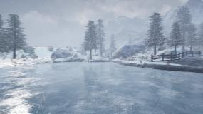 4K下雪冰天雪地视频素材
