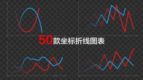 50款坐标折线图表MG动效视频素材包