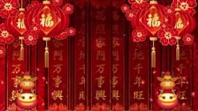 中国风红红火火舞台背景视频视频素材