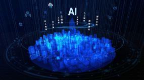 蓝色三维城市AI人工智能ae模板AE模板