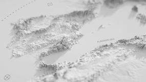 白色艺术三维质感地图出logo标题AE模板