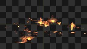 岩浆喷溅29号(有Alpha通道)视频素材包