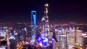 4K上海城市夜景航拍视频素材