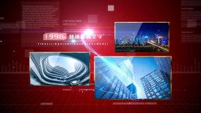 【原创】红色党政科技多图文展示AE模板