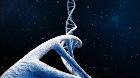 DNA破裂/蓝色DNA三维穿梭/4K视频视频素材包