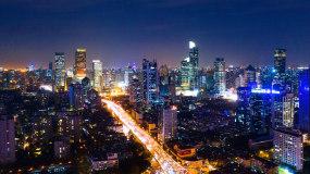 4K上海城市延时摄影视频素材