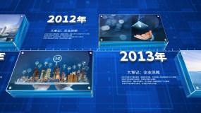 科技企业回顾发展历程大事记片头AE模板AE模板