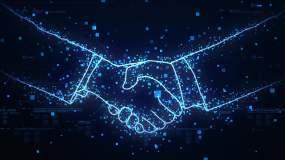 握手科技握手科技合作共赢视频素材包