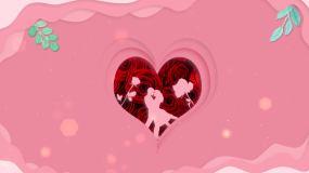 恋爱婚礼大屏背景视频素材