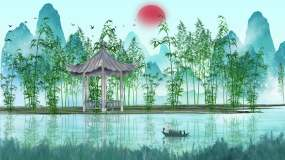 水墨竹林中国风背景视频素材