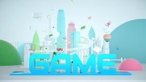 明亮三维城市游戏片头ae模板AE模板