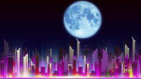城市夜景素材视频素材