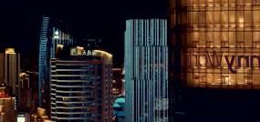 航拍青岛夜景视频素材