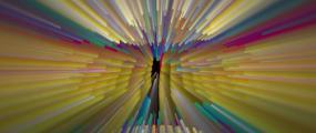 少年-梦然-绚丽-炫彩-粒子舞台灯光背景视频素材
