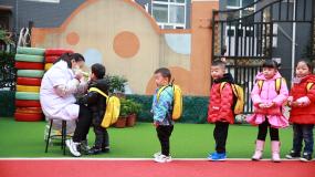 幼儿园晨检视频素材包