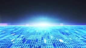 蓝色科技地面背景视频素材