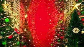 【4K】红色圣诞背景视频素材