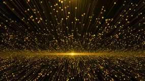 金色粒子流视频素材