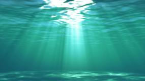 4K渲染低角度海洋海底世界循环光线视频素材