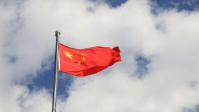 五星红旗国旗国旗飘飘国庆视频素材