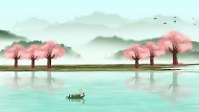水墨意境山水背景视频素材