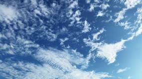 【HD天空】棉絮薄云蓝天白云白天超长时间视频素材