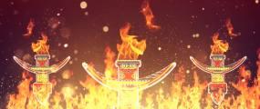 火把节火焰LED背景视频素材