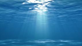 4K低角度海洋海底世界循环光线视频素材