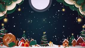 圣诞节主题LED背景-循环视频素材